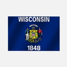 Flag of Wisconsin Rectangle Magnet