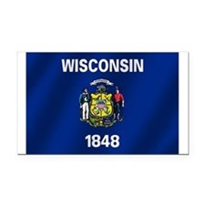 Flag of Wisconsin Rectangle Car Magnet