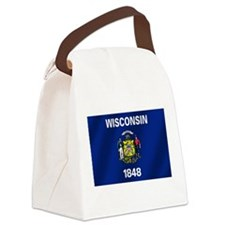 Flag of Wisconsin Canvas Lunch Bag