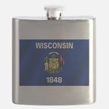 Flag of Wisconsin Flask