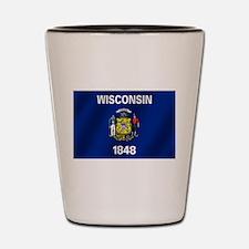 Flag of Wisconsin Shot Glass