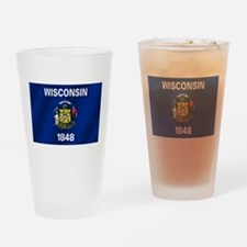 Flag of Wisconsin Drinking Glass