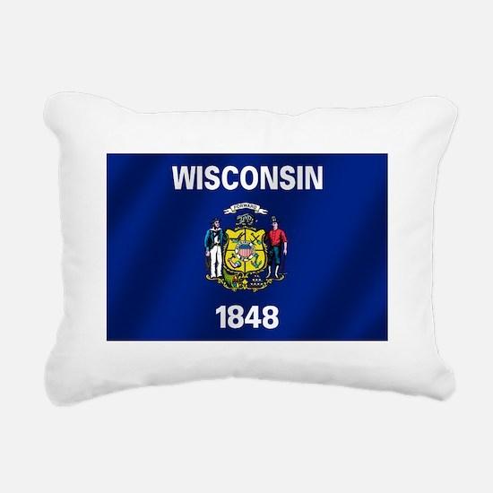 Flag of Wisconsin Rectangular Canvas Pillow