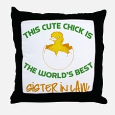 Cute Sister-In-Law Throw Pillow