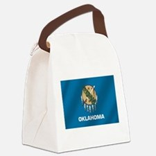Flag of Oklahoma Canvas Lunch Bag