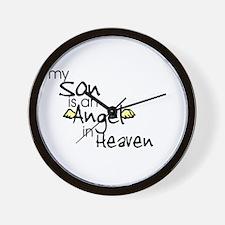 My son is an Angel Wall Clock
