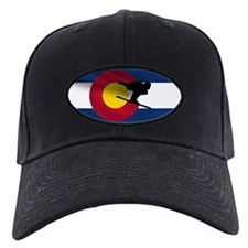 Colorado Skiing Flag Baseball Cap