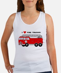 I Heart Fire Trucks! Women's Tank Top