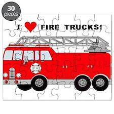 I Heart Fire Trucks! Puzzle
