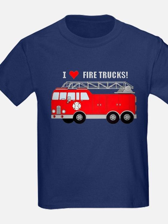 Fire truck t shirts shirts tees custom fire truck for Custom fire t shirts