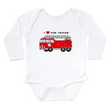 I Heart Fire Trucks! Onesie Romper Suit