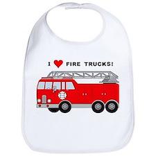 I Heart Fire Trucks! Bib