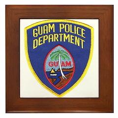 Guam Police Framed Tile