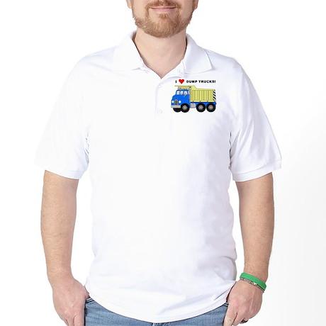 I Heart Dump Trucks Golf Shirt
