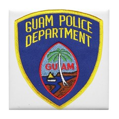 Guam Police Tile Coaster