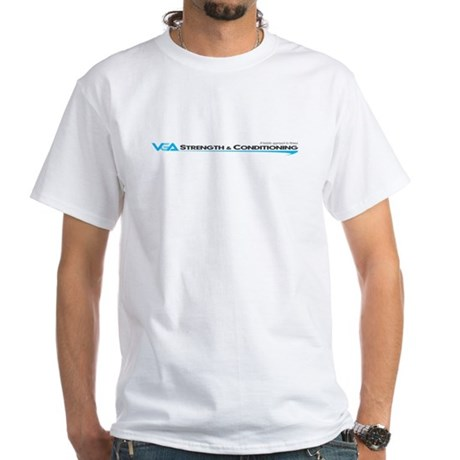 VGA Strength and Conditioning White T-Shirt