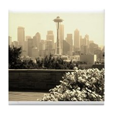 Seattle and the Space Needle Tile Coaster