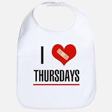 I Love Thursdays Bib