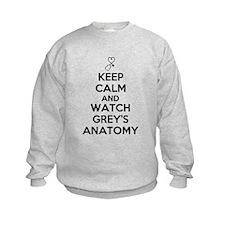 Keep Calm and Watch Greys Anatomy Sweatshirt
