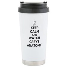 Keep Calm and Watch Greys Anatomy Thermos Mug