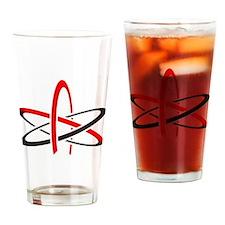 Atomic Atheism Symbol Drinking Glass