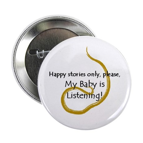 """2.25"""" """"Happy Stories Only"""" Button (100 pack)"""