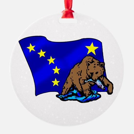Alaskan Bear Flag Ornament