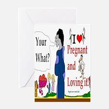 Pregnant Announcement Greeting Card