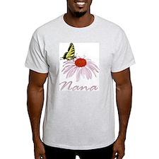 Nana Butterfly Daisy Ash Grey T-Shirt