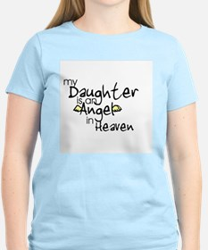 My daughter is an Angel Women's Pink T-Shirt