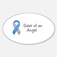 Sister of an Angel Oval Decal