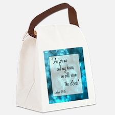 JOSHUA 24:15 Canvas Lunch Bag