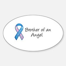 Brother of an Angel Oval Decal