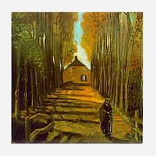 Van Gogh Autumn Tile Coaster
