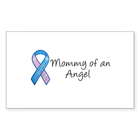 Mommy of an Angel Rectangle Sticker
