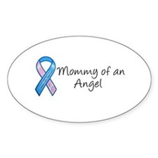 Mommy of an Angel Oval Stickers