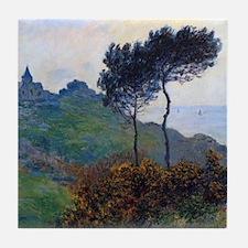Claude Monet Church at Varengeville Tile Coaster