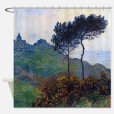 Claude Monet Church at Varengeville Shower Curtain