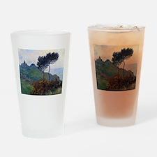 Claude Monet Church at Varengeville Drinking Glass