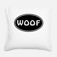 Woof Square Canvas Pillow