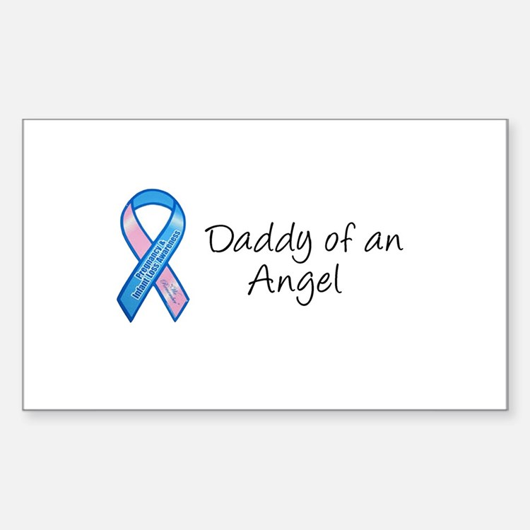 Daddy of an Angel Rectangle Decal