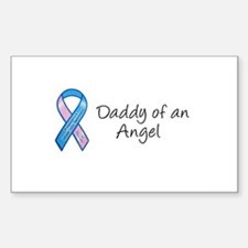 Daddy of an Angel Rectangle Stickers