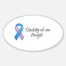 Daddy of an Angel Oval Decal