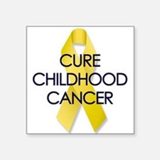Childhood Cancer Rectangle Sticker