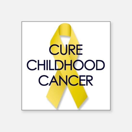 Childhood Cancer Rectangle Sticker
