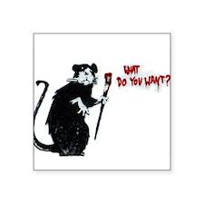 "Banksy Rat Square Sticker 3"" x 3"""