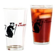 Banksy Rat Drinking Glass