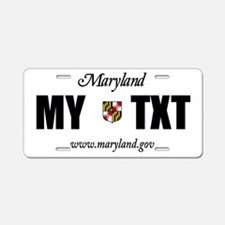 Personalized Maryland license plate replica