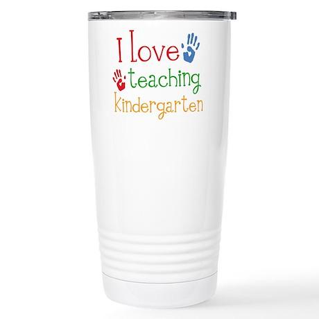 I Love Kindergarten Stainless Steel Travel Mug