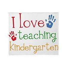 I Love Kindergarten Throw Blanket